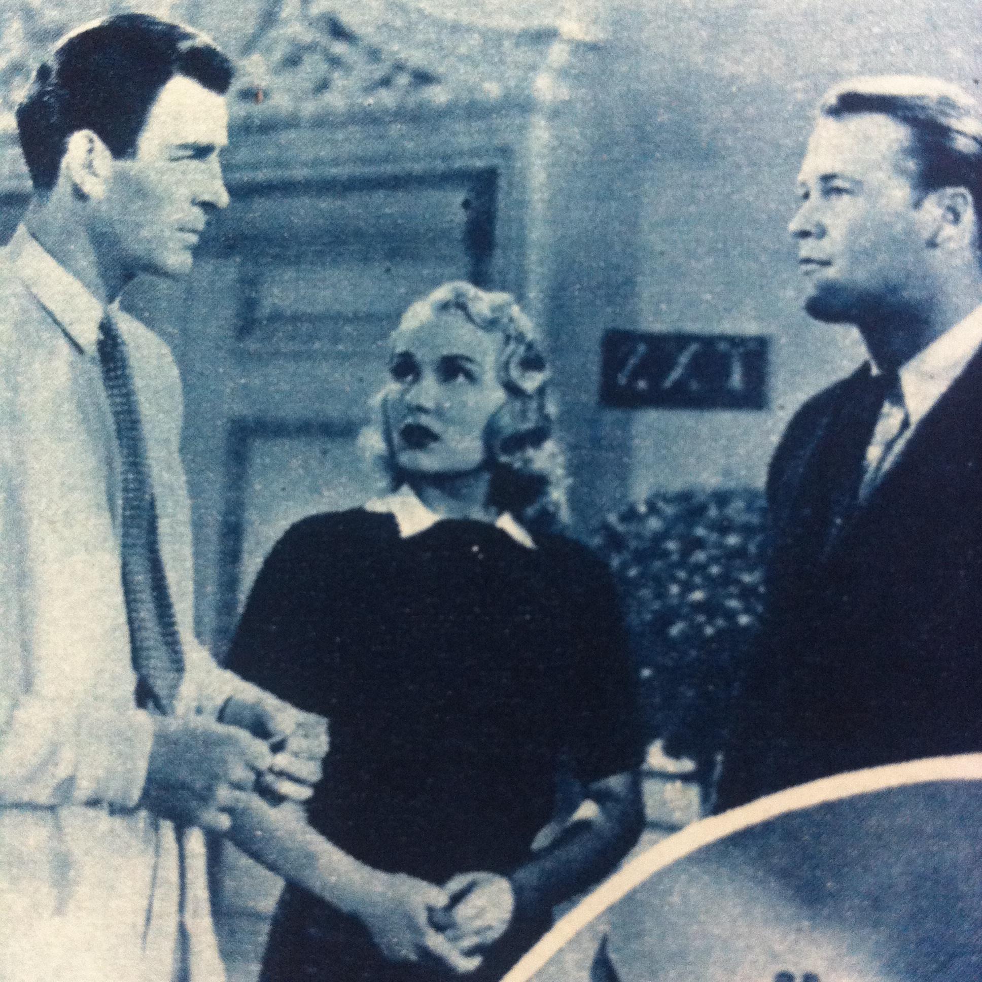 Rod Cameron, Virginia Dale, and Wayne Morris in The Quarterback (1940)