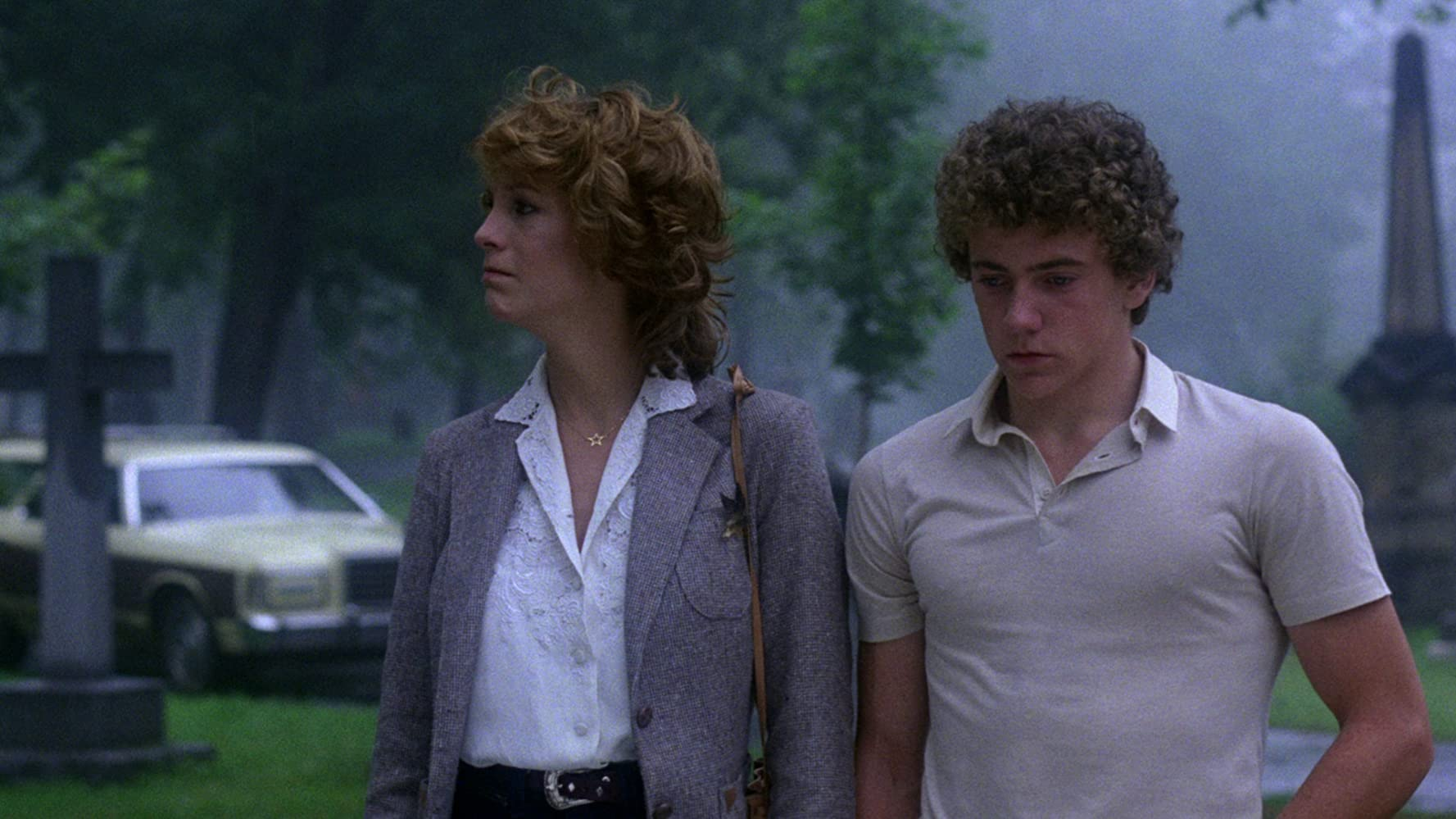 Jamie Lee Curtis and Michael Tough in Prom Night (1980)