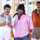 Vivek, Manobala, and Yogi Babu in Aranmanai 3 (2021)