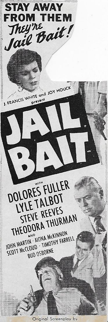 Timothy Farrell, Steve Reeves, Lyle Talbot, and Tedi Thurman in Jail Bait (1954)