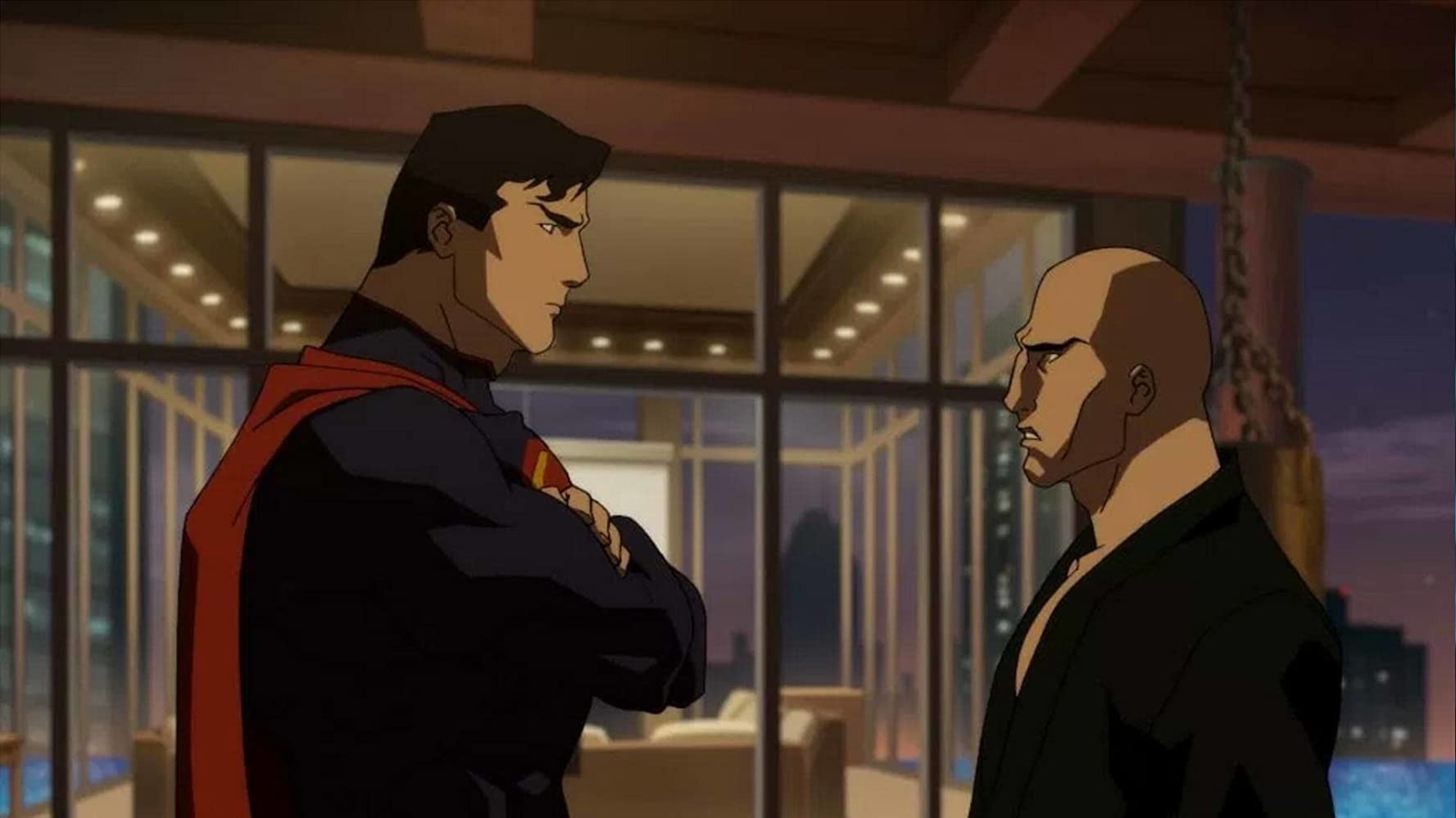 Jerry O'Connell and Rainn Wilson in The Death of Superman (2018)