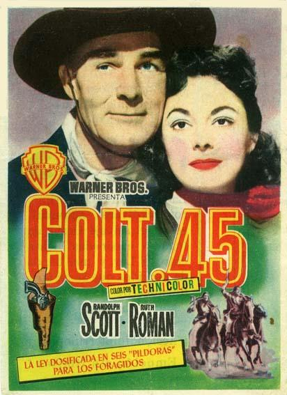Randolph Scott and Ruth Roman in Colt .45 (1950)
