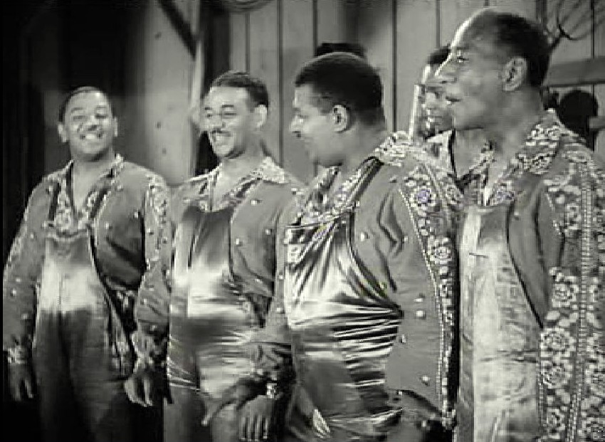 Donald Mills, Harry Mills, Herbert Mills, John Mills, and The Mills Brothers in Cowboy Canteen (1944)