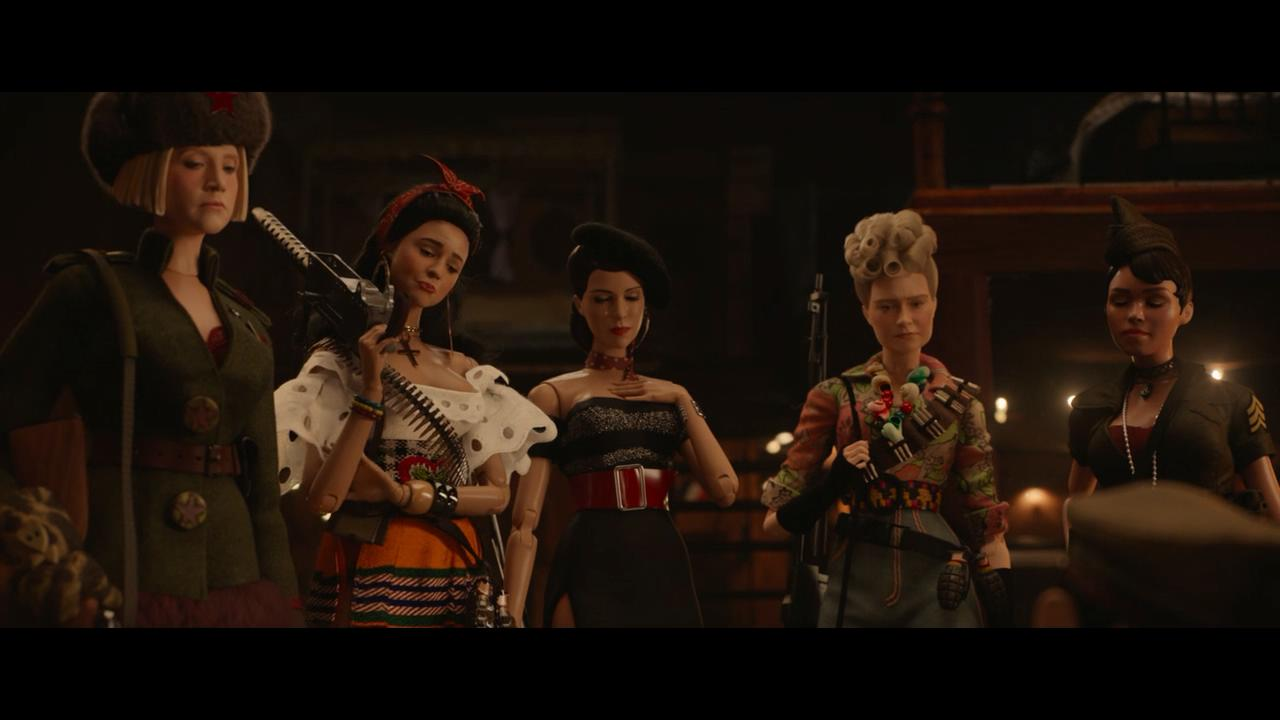 Leslie Zemeckis, Merritt Wever, Janelle Monáe, Eiza González, and Gwendoline Christie in Welcome to Marwen (2018)