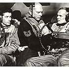 Yul Brynner, Richard Widmark, and George Chakiris in Flight from Ashiya (1964)