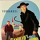Gino Cervi, Julien Duvivier, Fernandel, Leda Gloria, Paolo Stoppa, and Charles Vissières in Le retour de Don Camillo (1953)