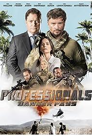 Brendan Fraser, Elena Anaya, Tom Welling, Tanya van Graan, Stevel Marc, and Nic Rasenti in Professionals (2020)