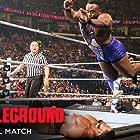 Fred Rosser and Ettore Ewen in WWE Battleground (2015)