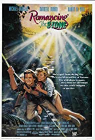 Michael Douglas and Kathleen Turner in Romancing the Stone (1984)