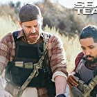 David Boreanaz and Neil Brown Jr. in SEAL Team (2017)
