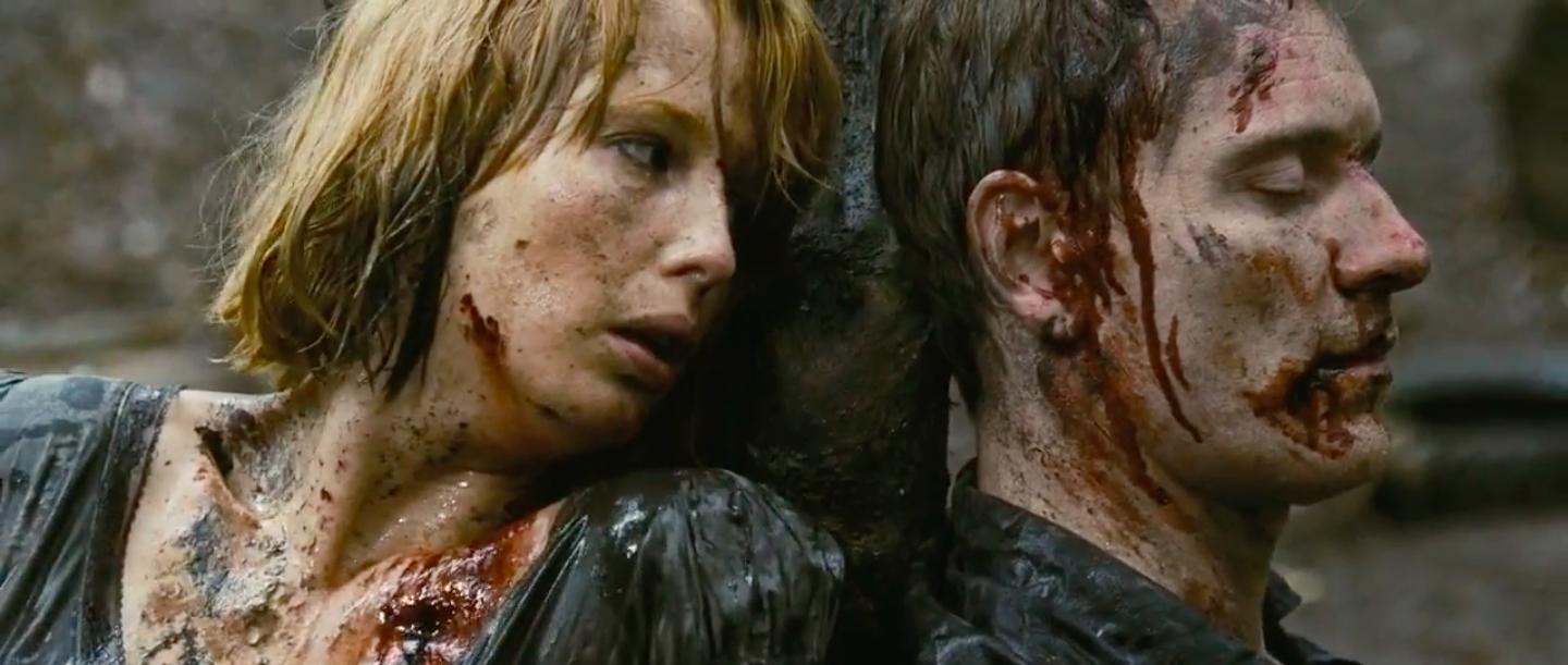 Kelly Reilly and Michael Fassbender in Eden Lake (2008)