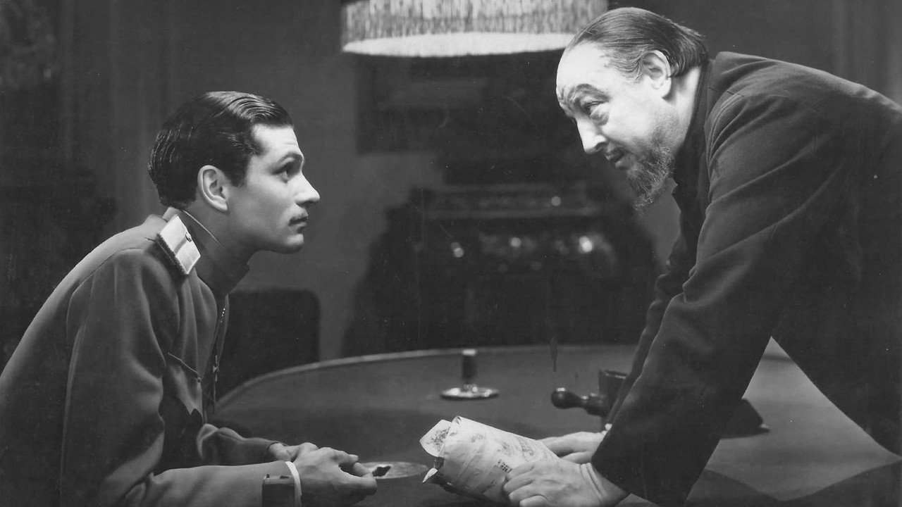 Laurence Olivier and Harry Baur in Moscow Nights (1935)