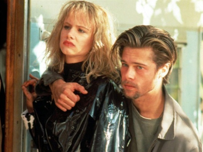Brad Pitt and Juliette Lewis in Too Young to Die? (1990)