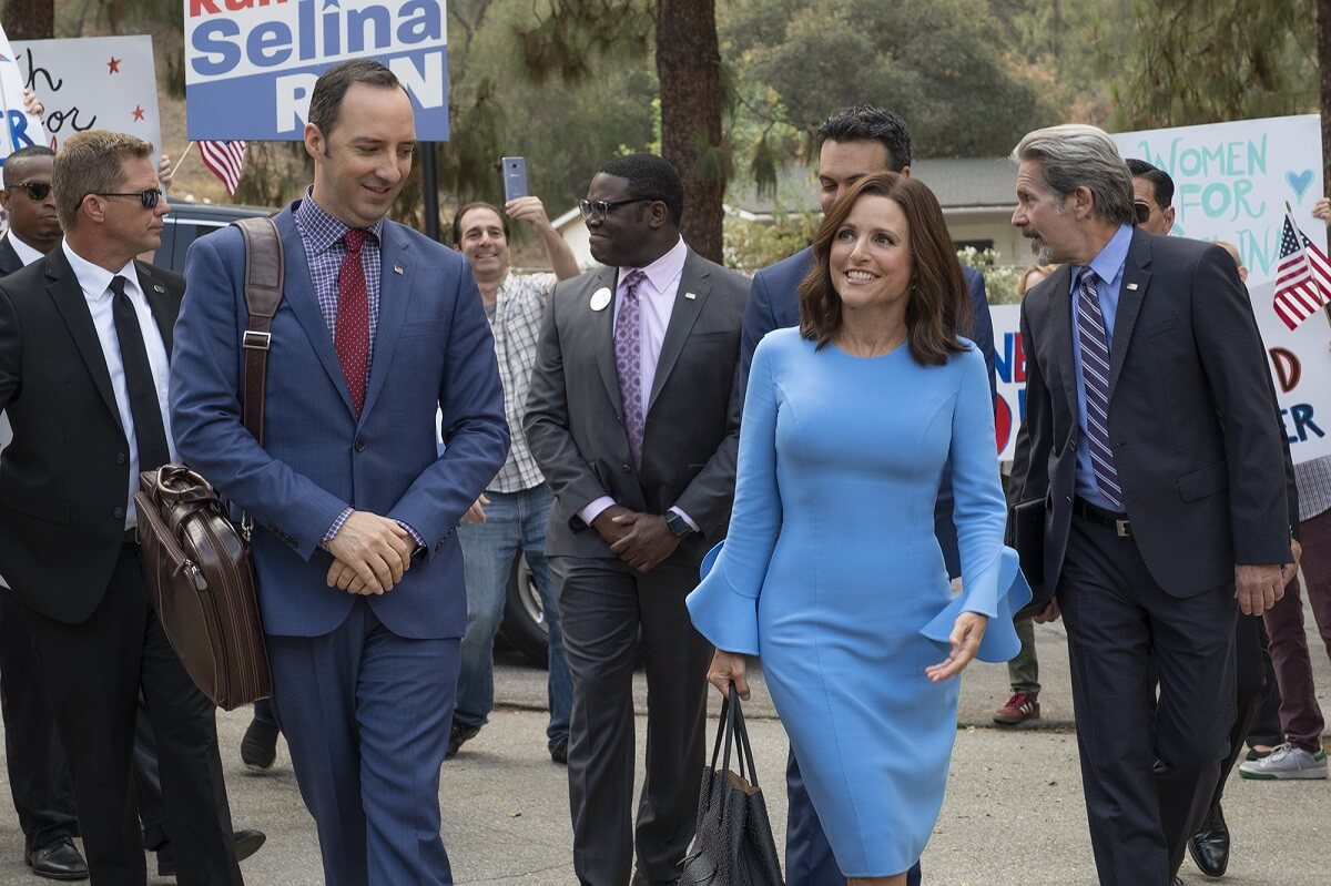 Julia Louis-Dreyfus, Gary Cole, Tony Hale, Reid Scott, and Sam Richardson in Veep (2012)