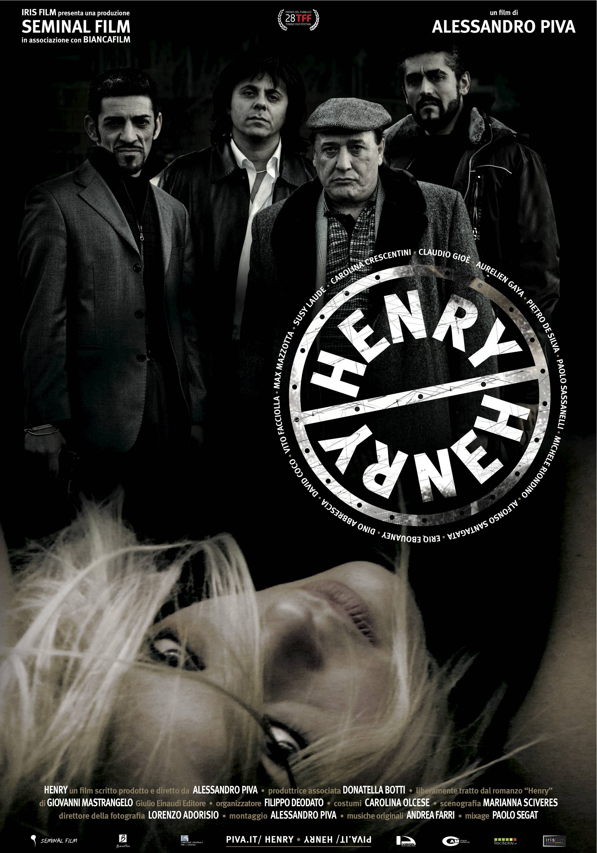 Dino Abbrescia, Alfonso Santagata, David Coco, Carolina Crescentini, and Vito Facciolla in Henry (2010)