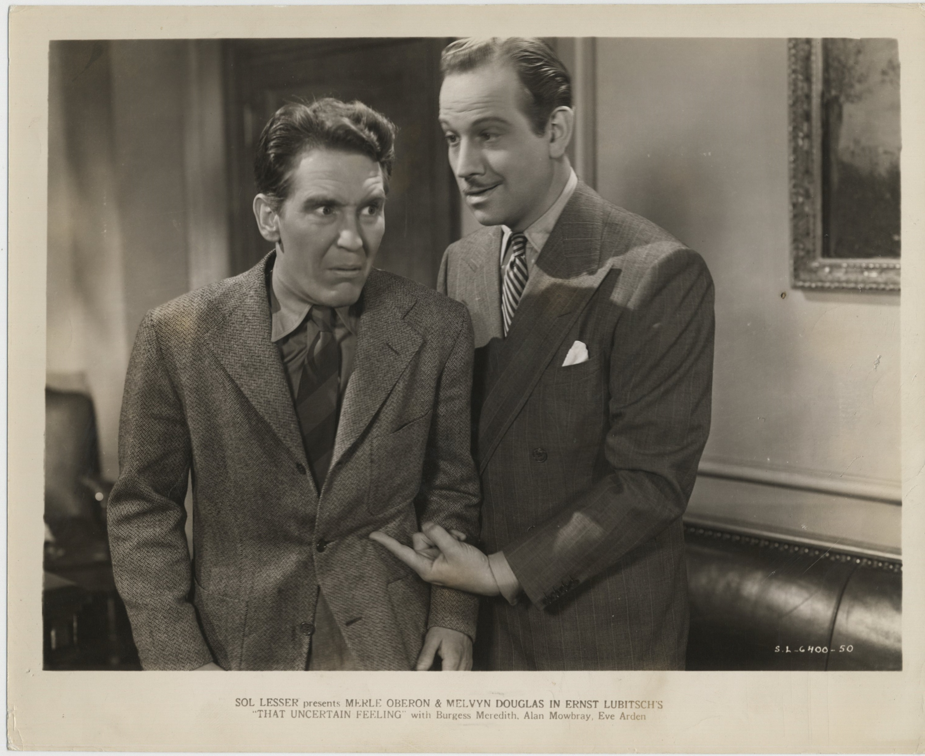 Melvyn Douglas and Burgess Meredith in That Uncertain Feeling (1941)