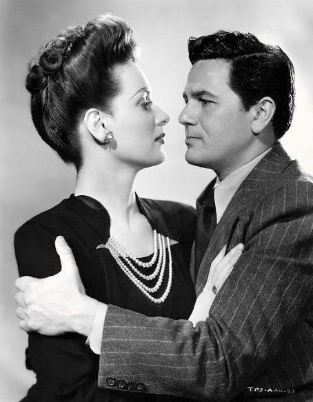 John Garfield and Patricia Morison in The Fallen Sparrow (1943)