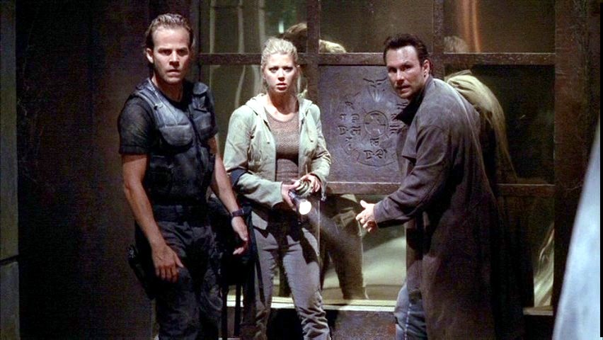Christian Slater, Stephen Dorff, and Tara Reid in Alone in the Dark (2005)