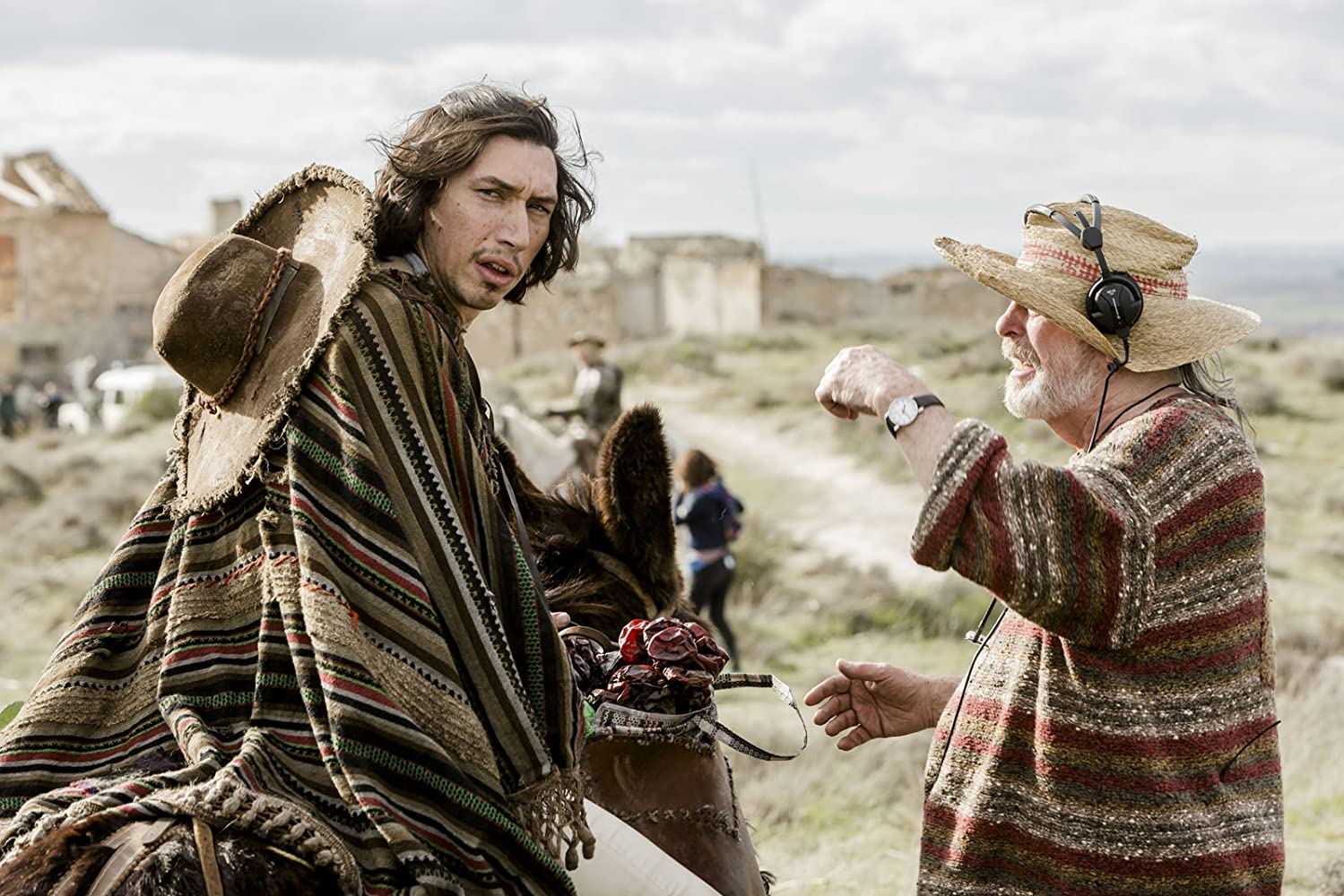 Terry Gilliam and Adam Driver in The Man Who Killed Don Quixote (2018)
