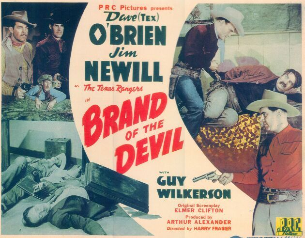 Reed Howes, I. Stanford Jolley, Charles King, Kermit Maynard, James Newill, Dave O'Brien, and Guy Wilkerson in Brand of the Devil (1944)