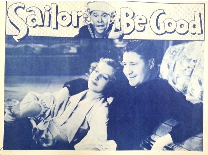 Jack Oakie and Vivienne Osborne in Sailor Be Good (1933)