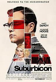 Julianne Moore, Matt Damon, and Oscar Isaac in Suburbicon (2017)