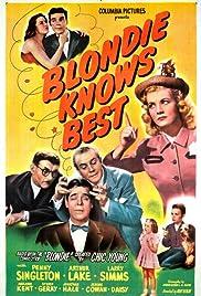 Blondie Knows Best Poster