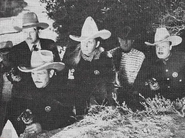 Tim McCoy, Karl Hackett, Jack King, Jack Rockwell, and Hal Taliaferro in The Traitor (1936)