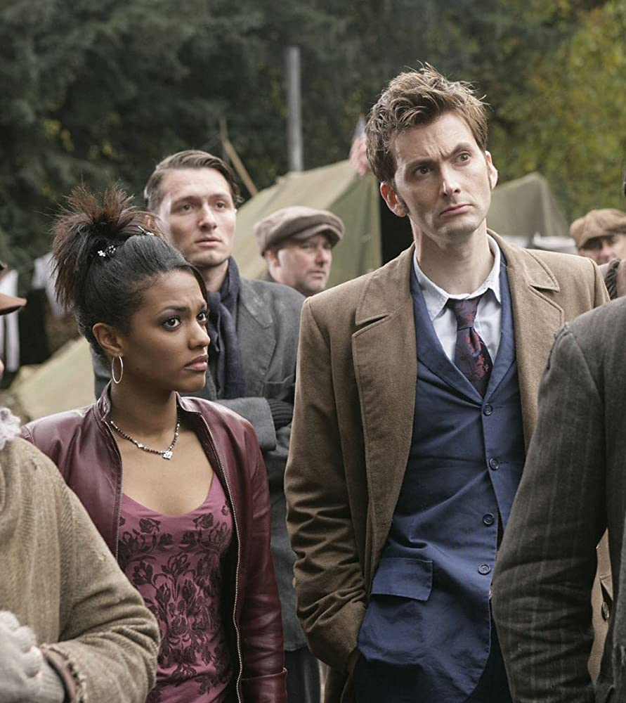 David Tennant and Freema Agyeman in Doctor Who (2005)