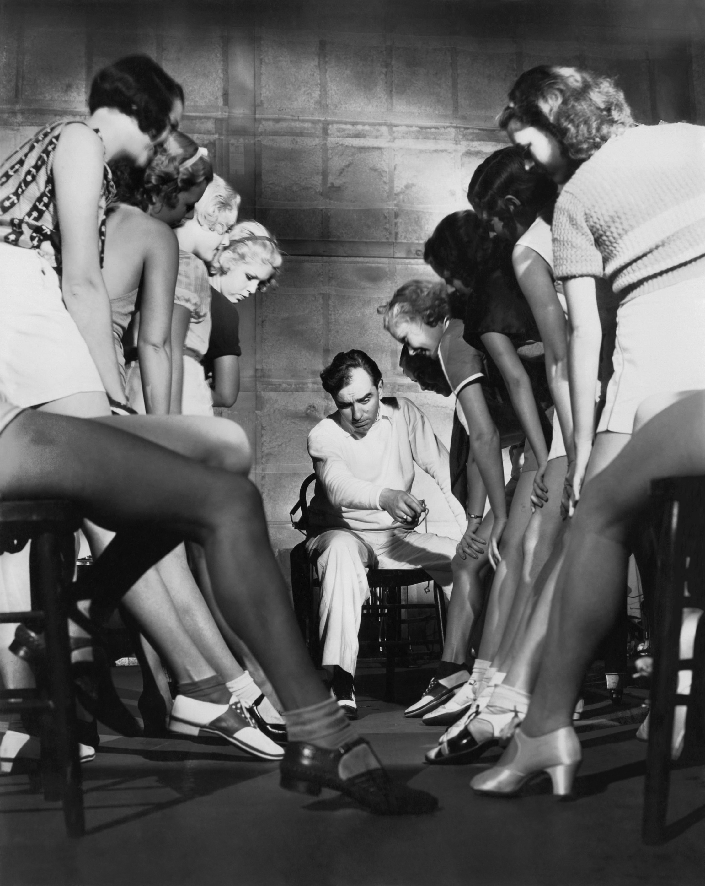 Busby Berkeley, Maxine Cantway, Margaret Carthew, Virginia Dabney, Patsy Farnum, Ann Hovey, Alice Jans, Mildred Dixon, and Marie Arbuckle in 42nd Street (1933)