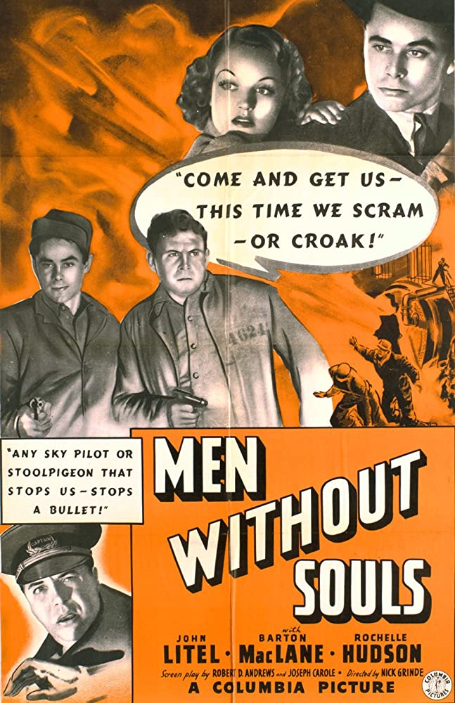 Glenn Ford, Rochelle Hudson, Cy Kendall, and Barton MacLane in Men Without Souls (1940)