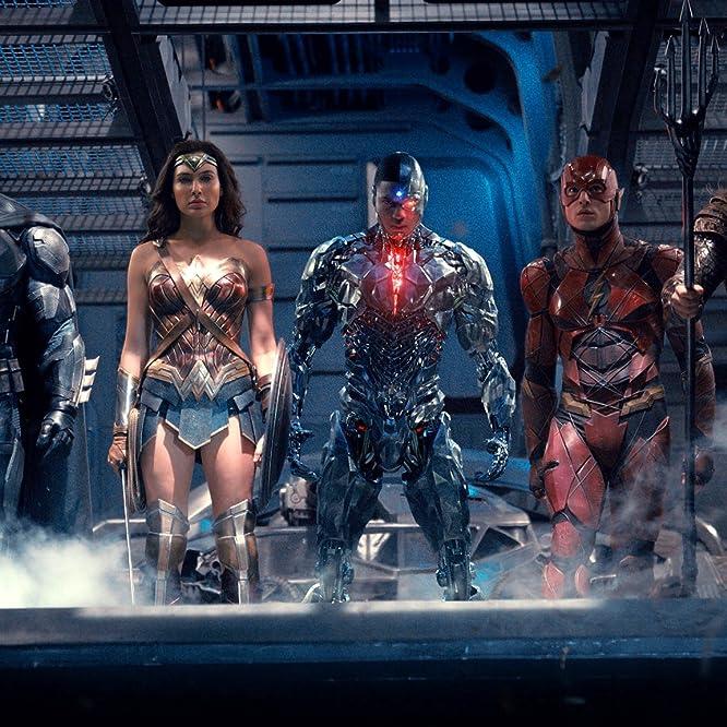 Ben Affleck, Jason Momoa, Gal Gadot, Ezra Miller, and Ray Fisher in Justice League (2017)