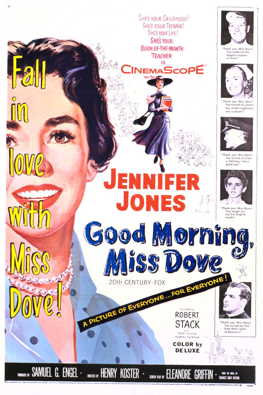 Robert Douglas, Kipp Hamilton, Jennifer Jones, Peggy Knudsen, and Robert Stack in Good Morning, Miss Dove (1955)
