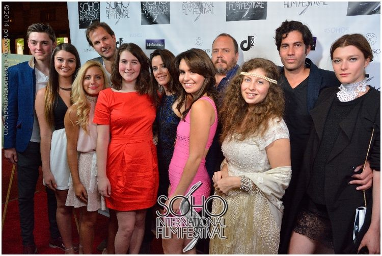 The cast and crew of Night Has Settled at New York premiere at SOHO International Film Festival