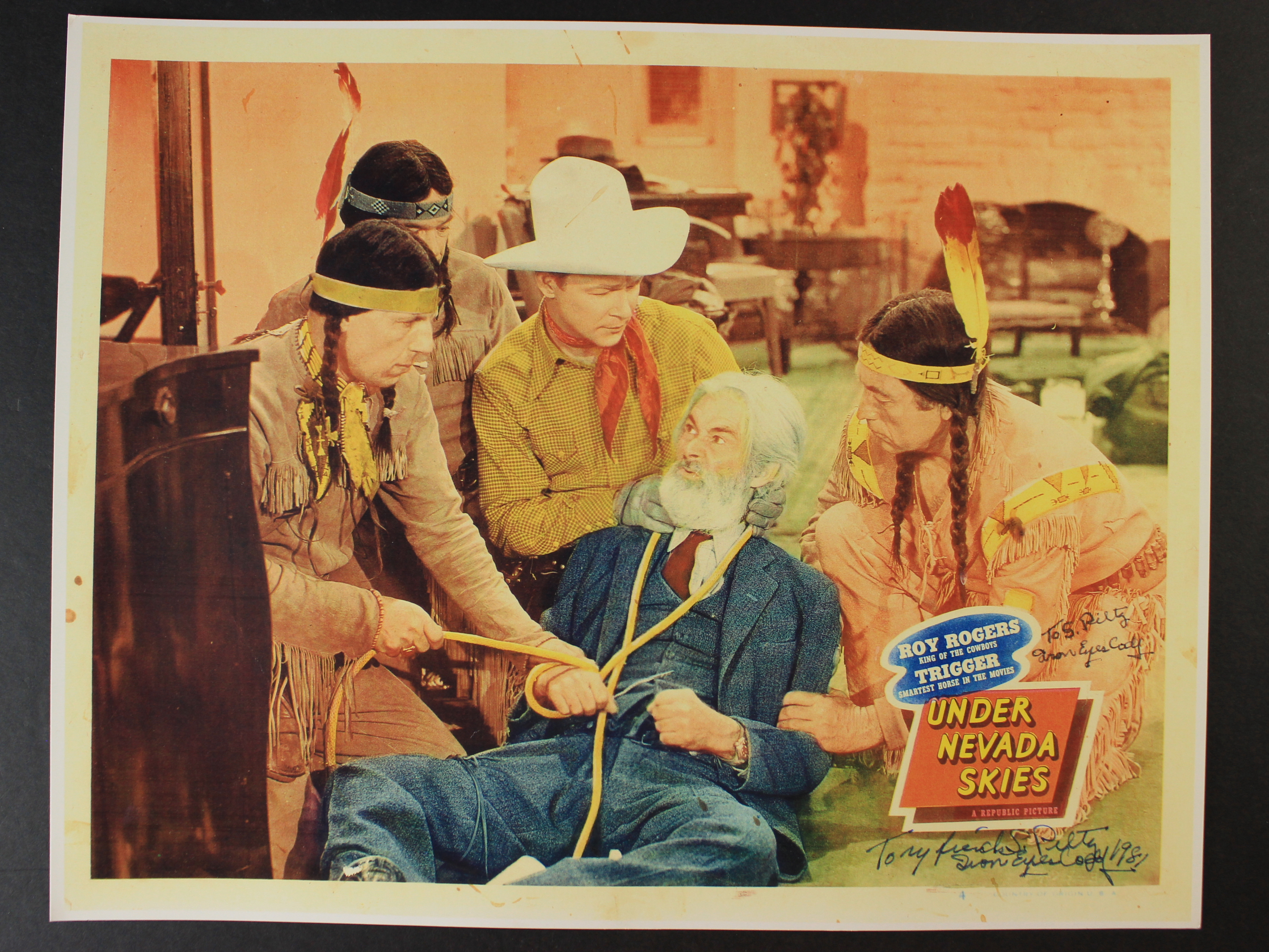 Roy Rogers, Iron Eyes Cody, and George 'Gabby' Hayes in Under Nevada Skies (1946)