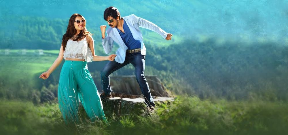Ravi Teja and Raashi Khanna in Bengal Tiger (2015)
