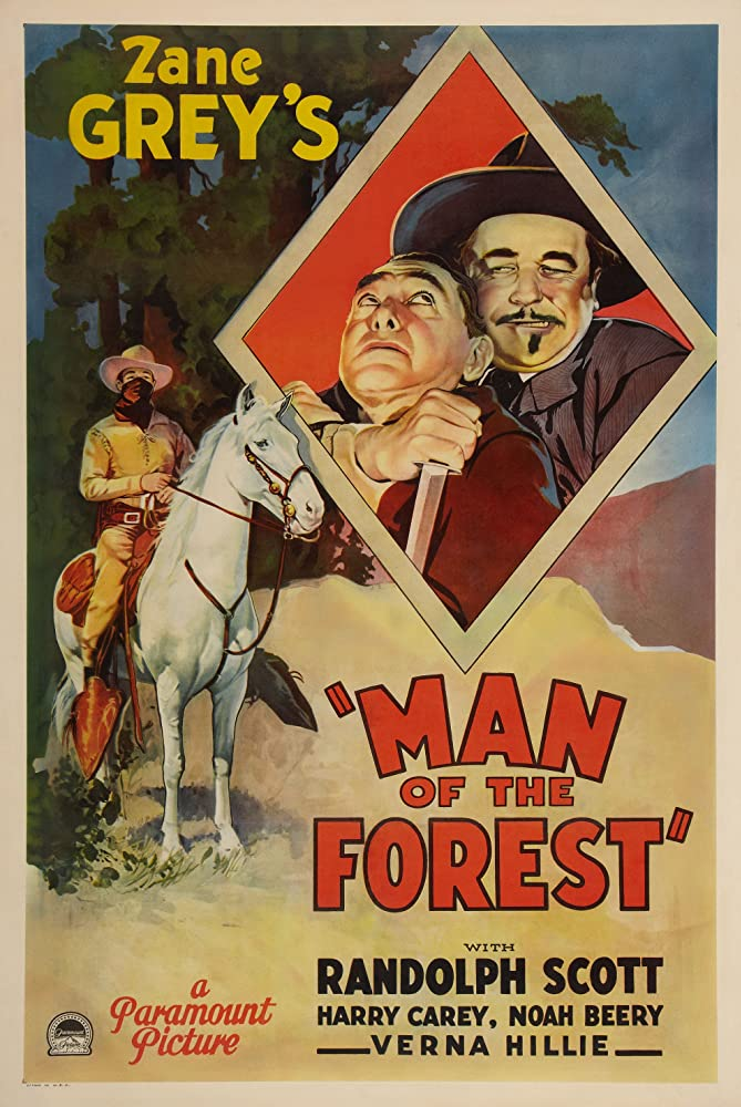 Randolph Scott, Noah Beery, and Harry Carey in Man of the Forest (1933)