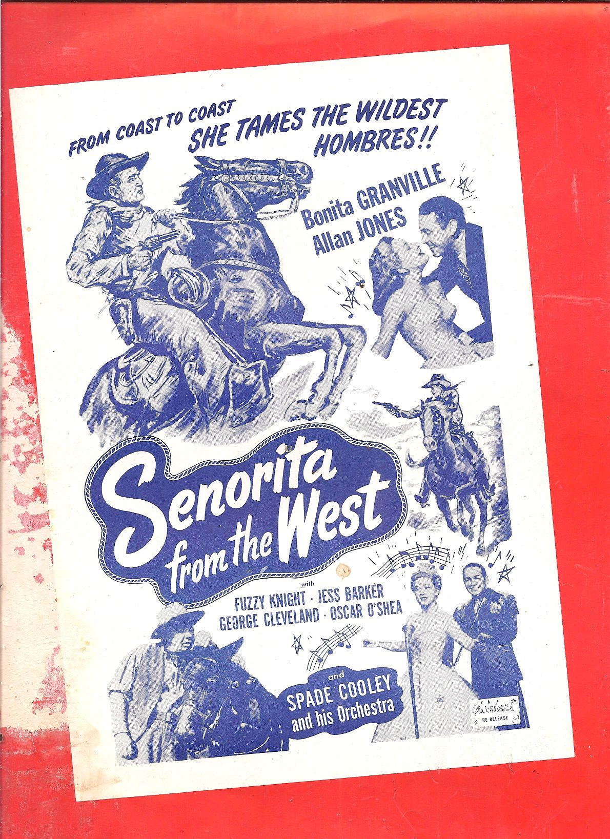 Spade Cooley, Bonita Granville, Allan Jones, and Fuzzy Knight in Senorita from the West (1945)