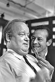 Ingolf David and Karl Stegger in Biedermann og brandstifterne (1965)