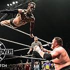 Joe Seanoa and Fergal Devitt in NXT TakeOver: London (2015)
