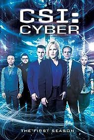 Patricia Arquette, Peter MacNicol, James Van Der Beek, Shad Moss, Hayley Kiyoko, and Charley Koontz in CSI: Cyber (2015)