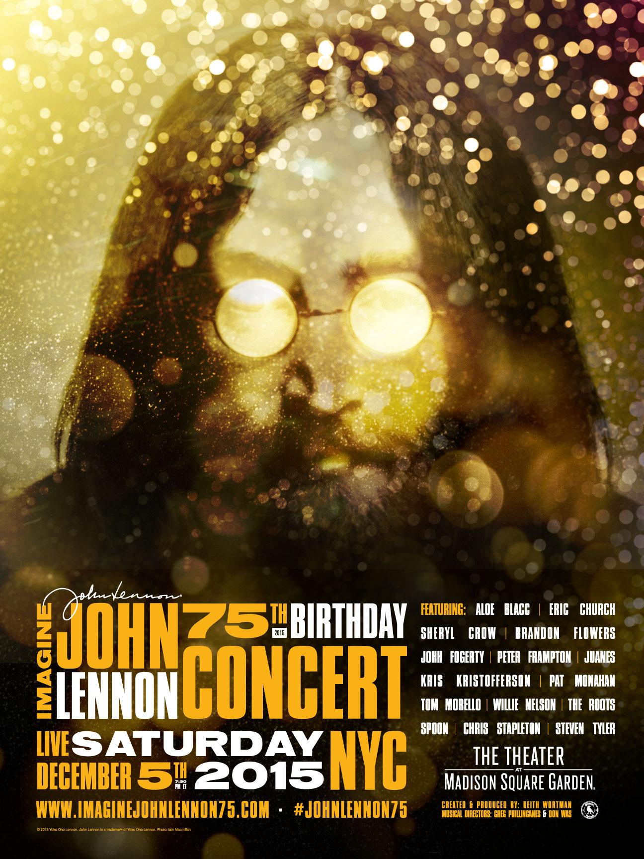 Imagine John Lennon 75th Birthday Concert TV Movie 2015