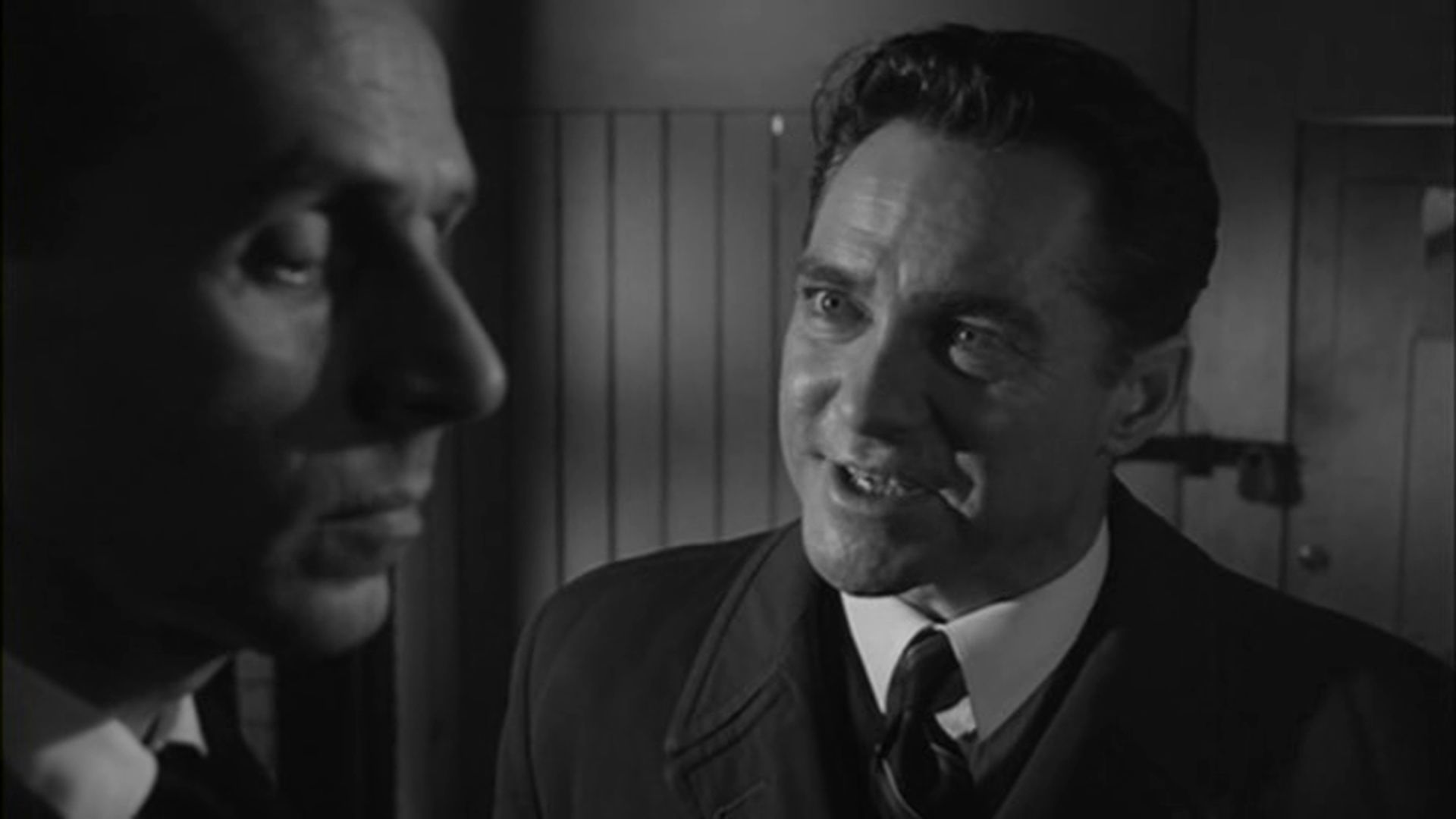 Richard Todd and Noel Willman in Never Let Go (1960)