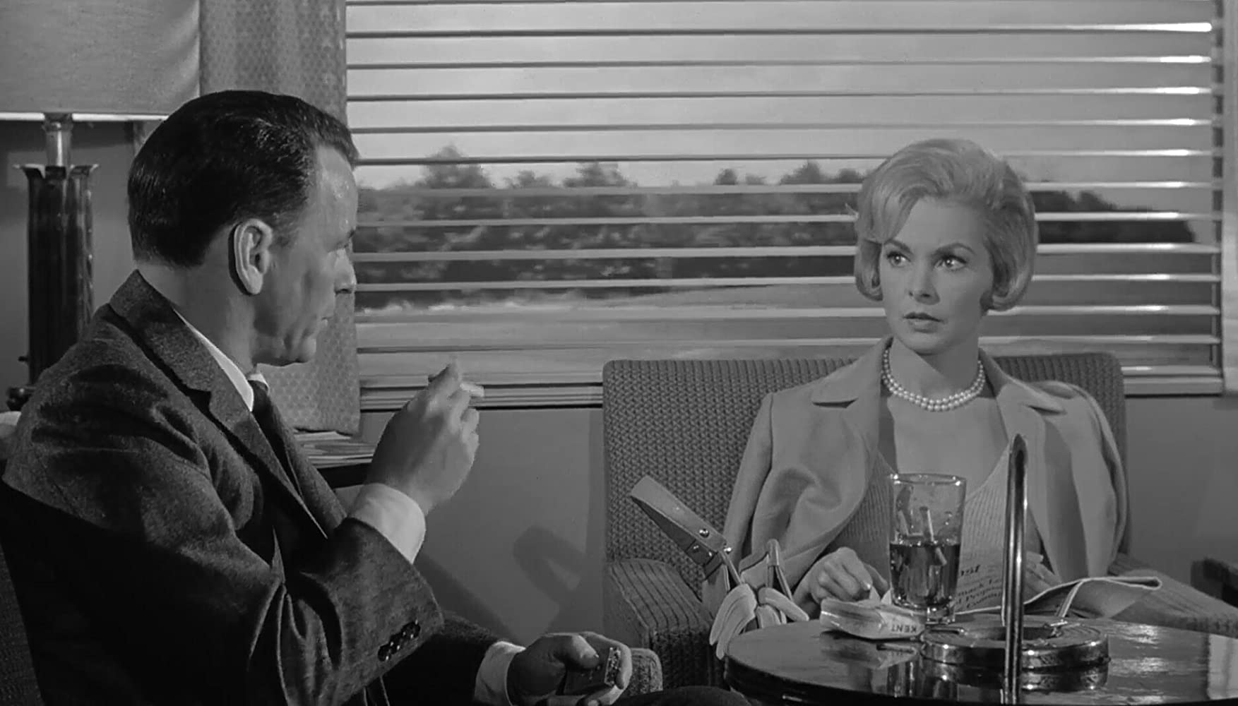 Frank Sinatra and Janet Leigh in The Manchurian Candidate (1962)