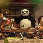 Dustin Hoffman, Jackie Chan, Angelina Jolie, Lucy Liu, Jack Black, David Cross, James Hong, Seth Rogen, and Jack McBrayer in Kung Fu Panda Holiday (2010)