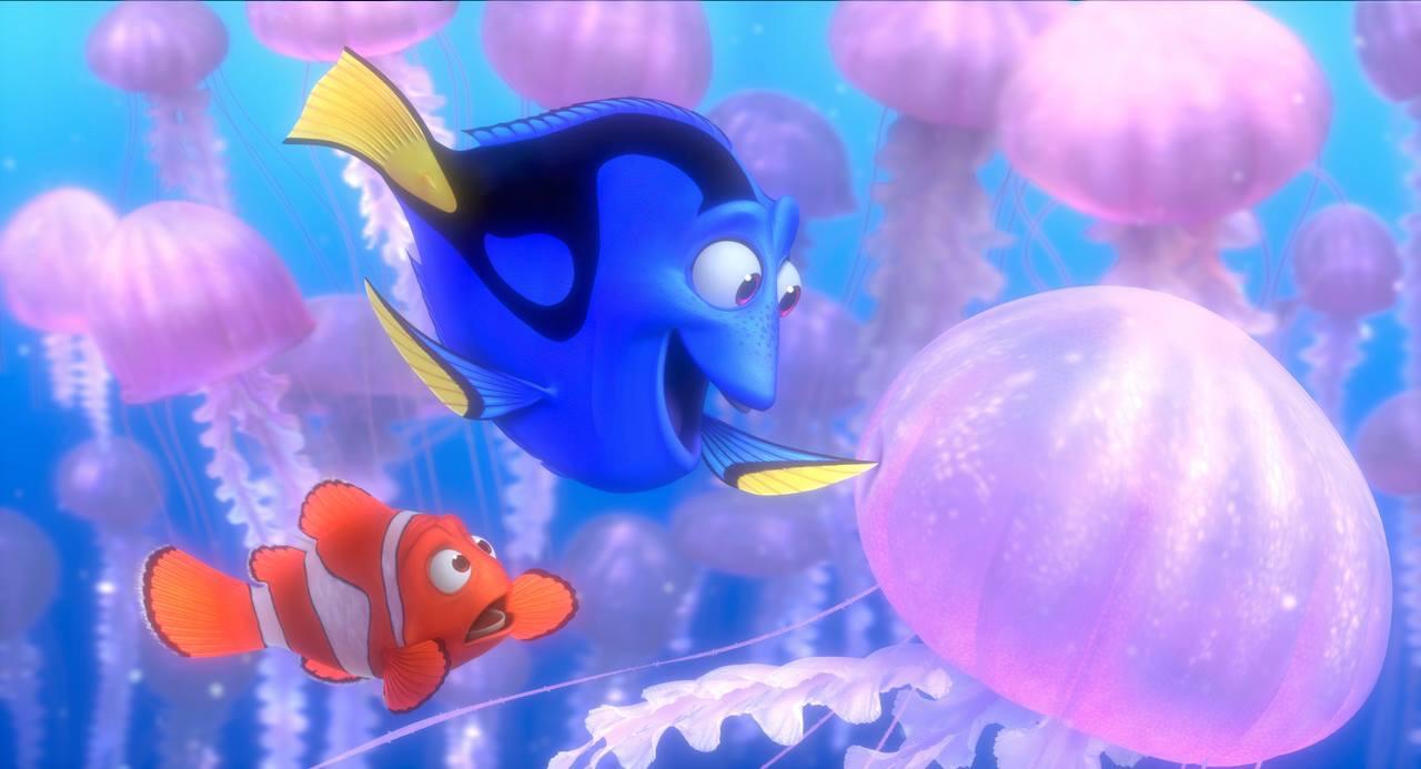 Albert Brooks and Ellen DeGeneres in Finding Nemo (2003)