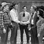 Evelyn Finley, John 'Dusty' King, David Sharpe, Forrest Taylor, and Max Terhune in Trail Riders (1942)