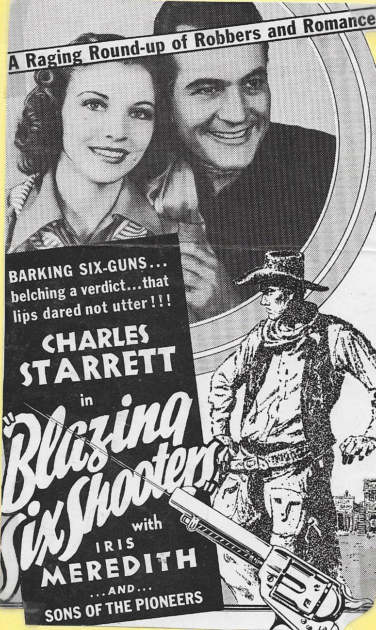 Iris Meredith and Charles Starrett in Blazing Six Shooters (1940)