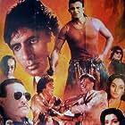 Amitabh Bachchan, Tinnu Anand, Mithun Chakraborty, Danny Denzongpa, Madhavi, and Neelam Kothari in Agneepath (1990)