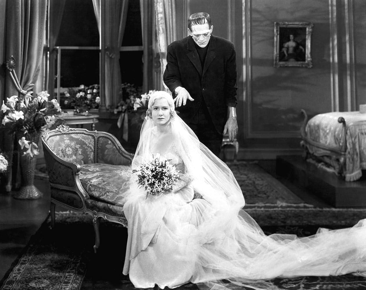 Boris Karloff and Mae Clarke in Frankenstein (1931)